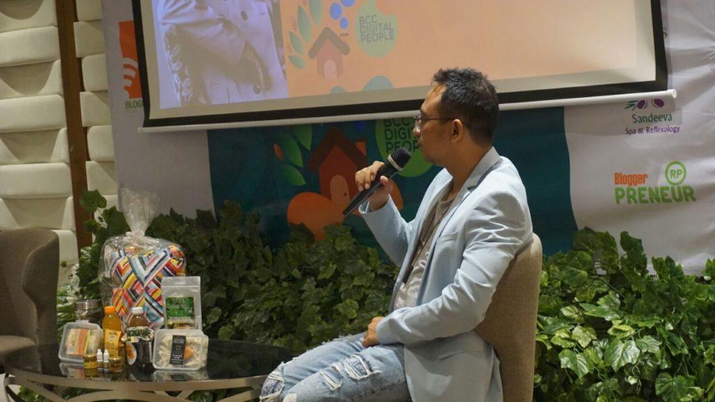 Tuhu Nugraha, Pembicara Digital saat BloggerDay2018