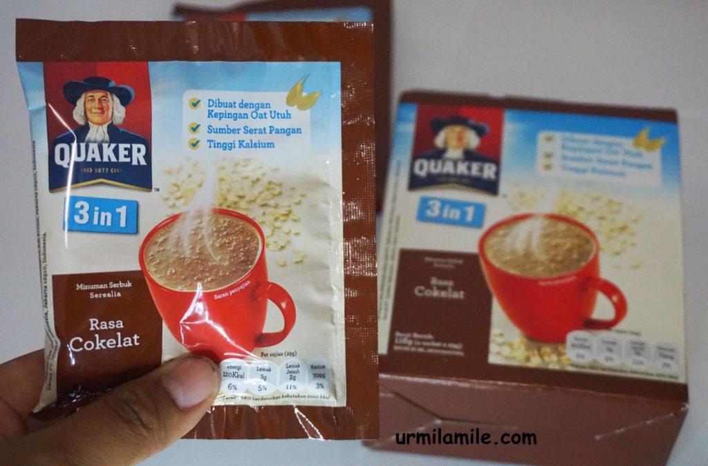 Kemasan Sachet Quaker Coklat
