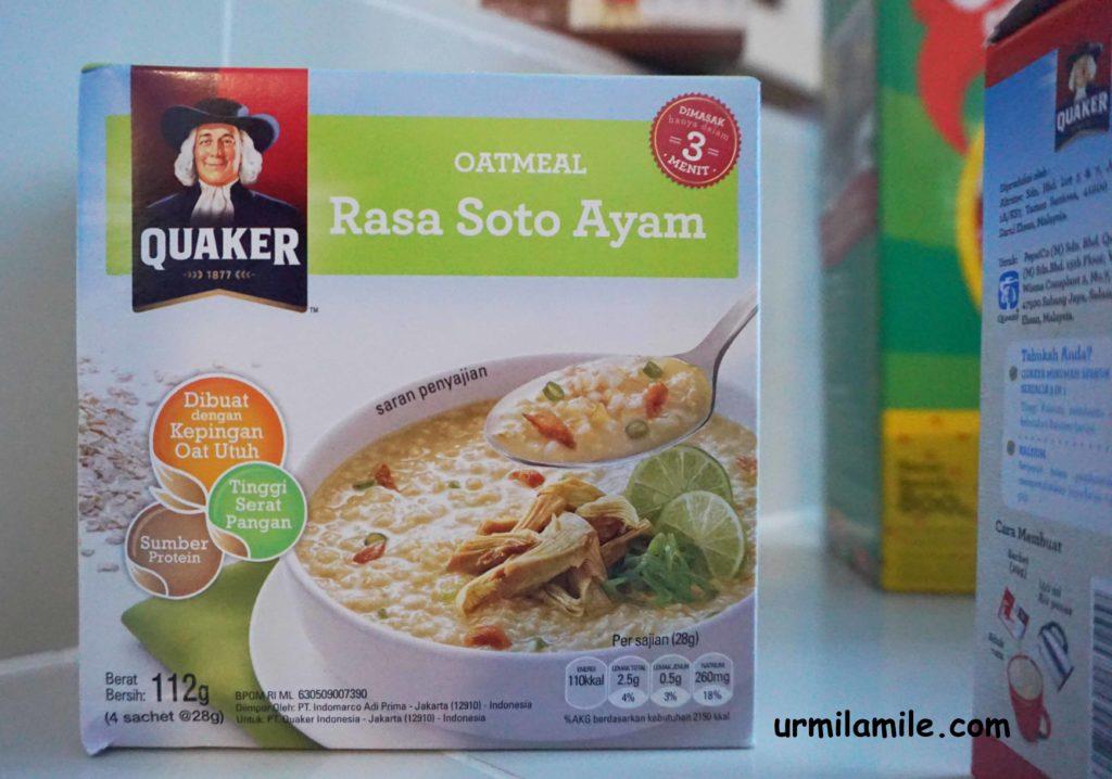 Quaker Oatmeal Rasa Soto Ayam