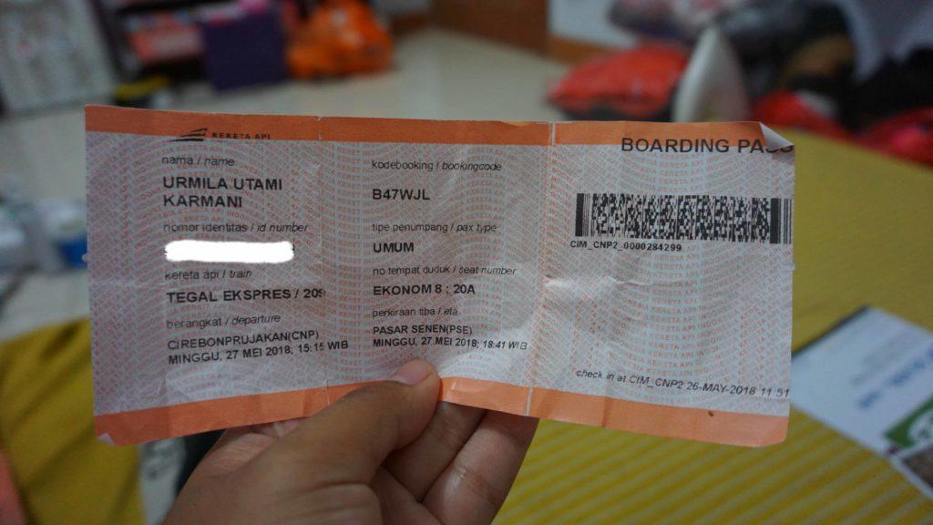 Tiket Pulang Parujakan Cirebon