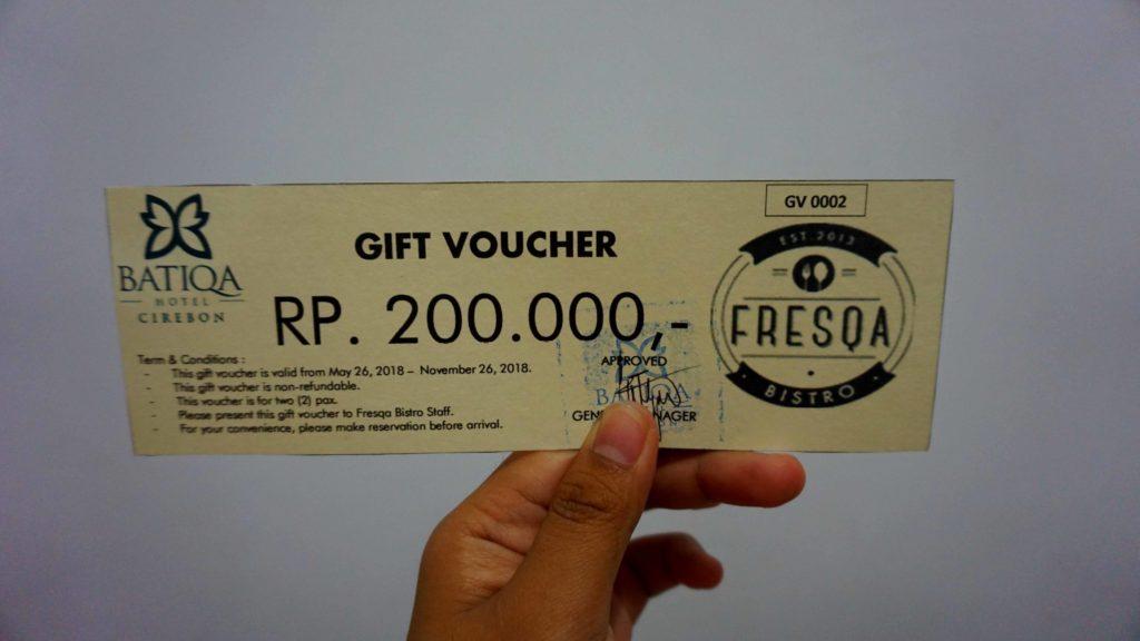 Voucher dari BATIQA Hotel Cirebon