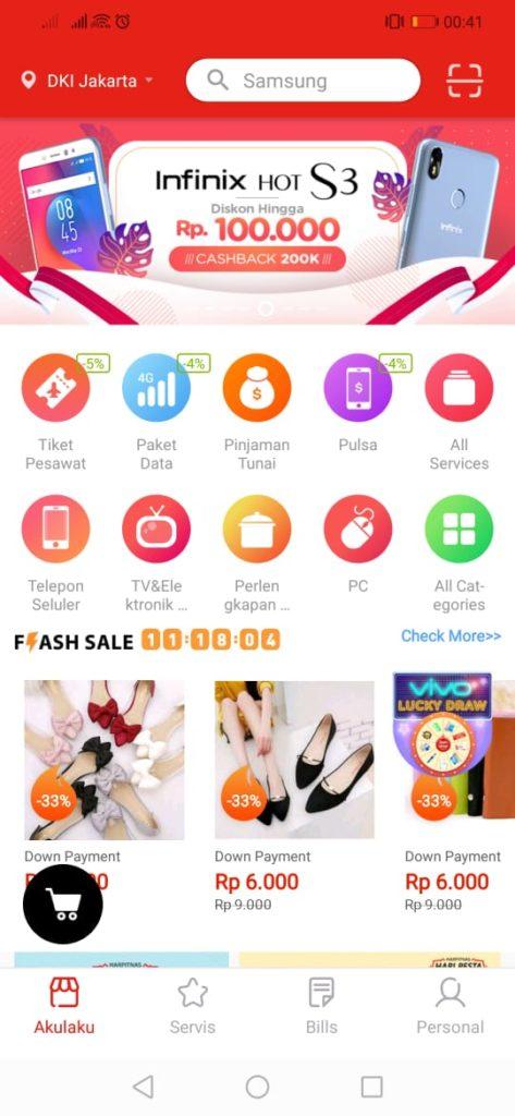 Akulaku - Homepage Akulaku di aplikasi android (2)