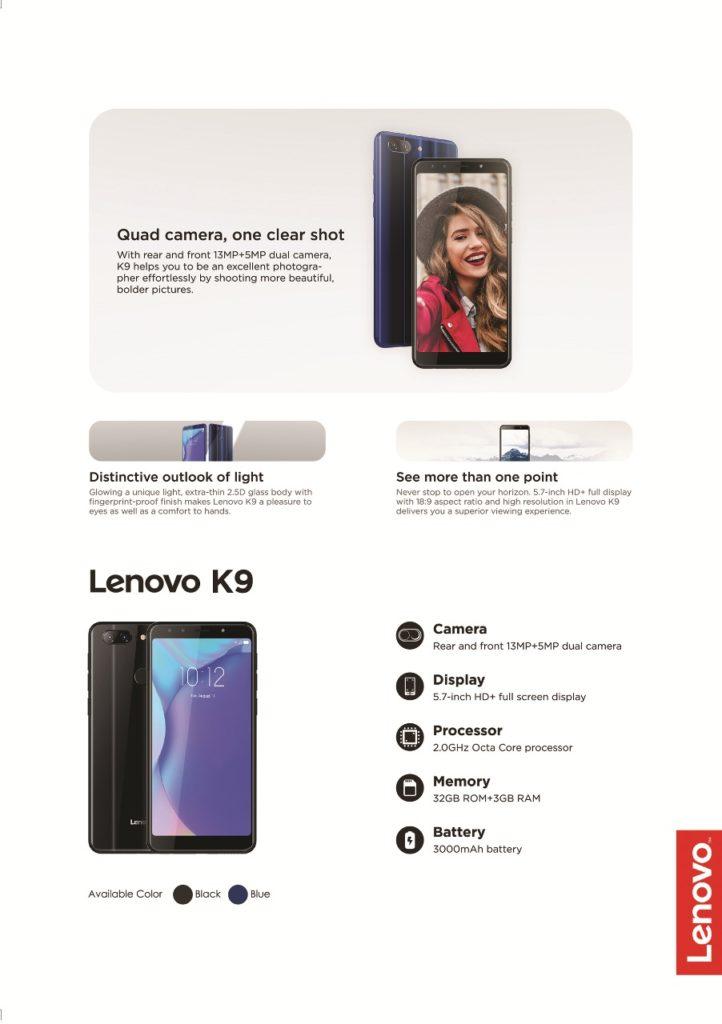Lenovo K9 - Spesifikasi Lenovo K9