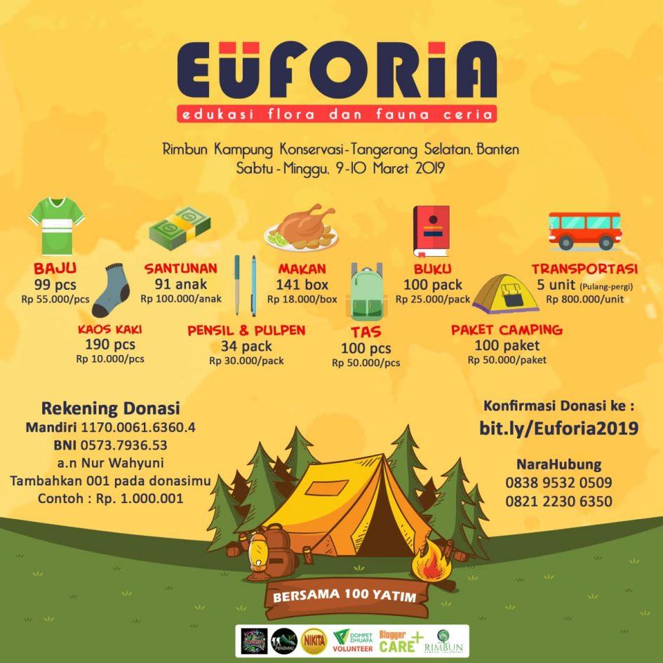 EUFORIA - Buka Donasi Untuk Kegiatan Anak Yatim