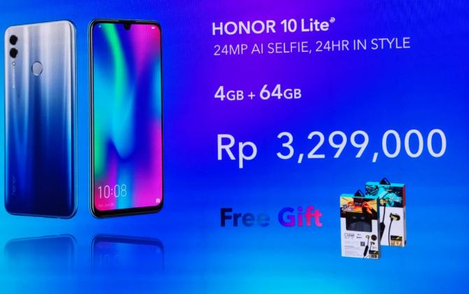 Harga Honor 10 Lite dibandrol dengna harga kurang dari 3,5 juta!