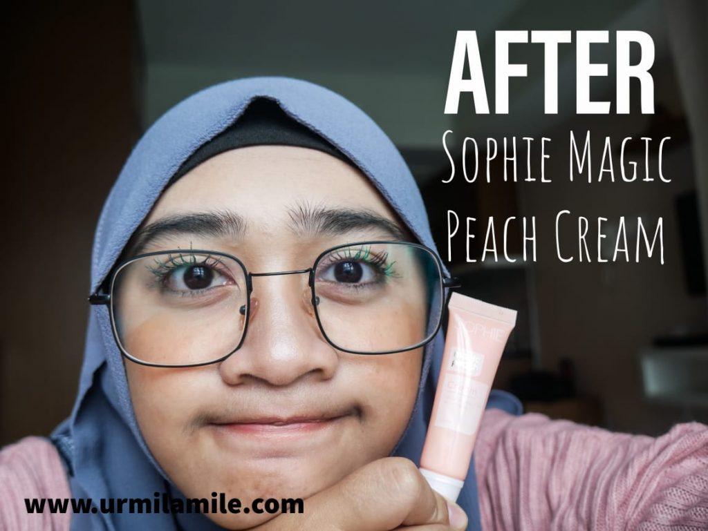 Urmilamile - Setelah Pake Sophie Magic Peach Cream